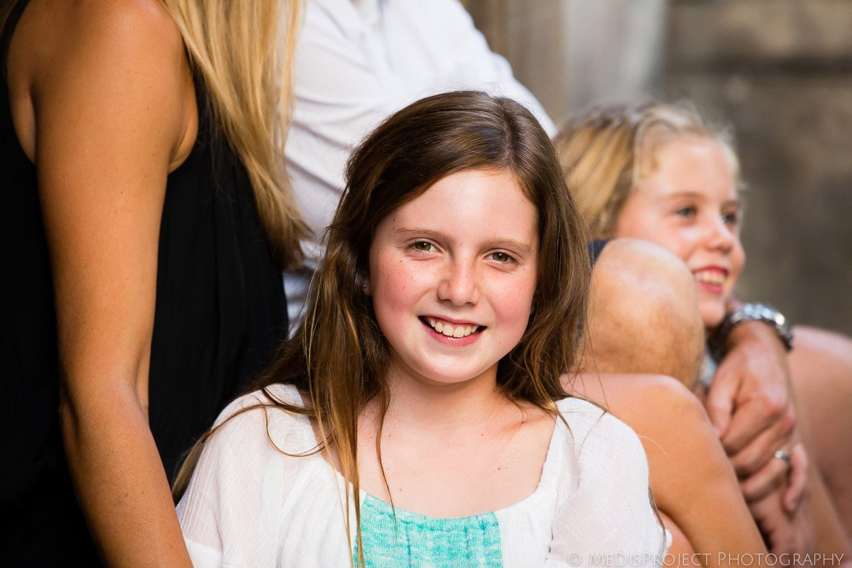 happy little girl's portrait