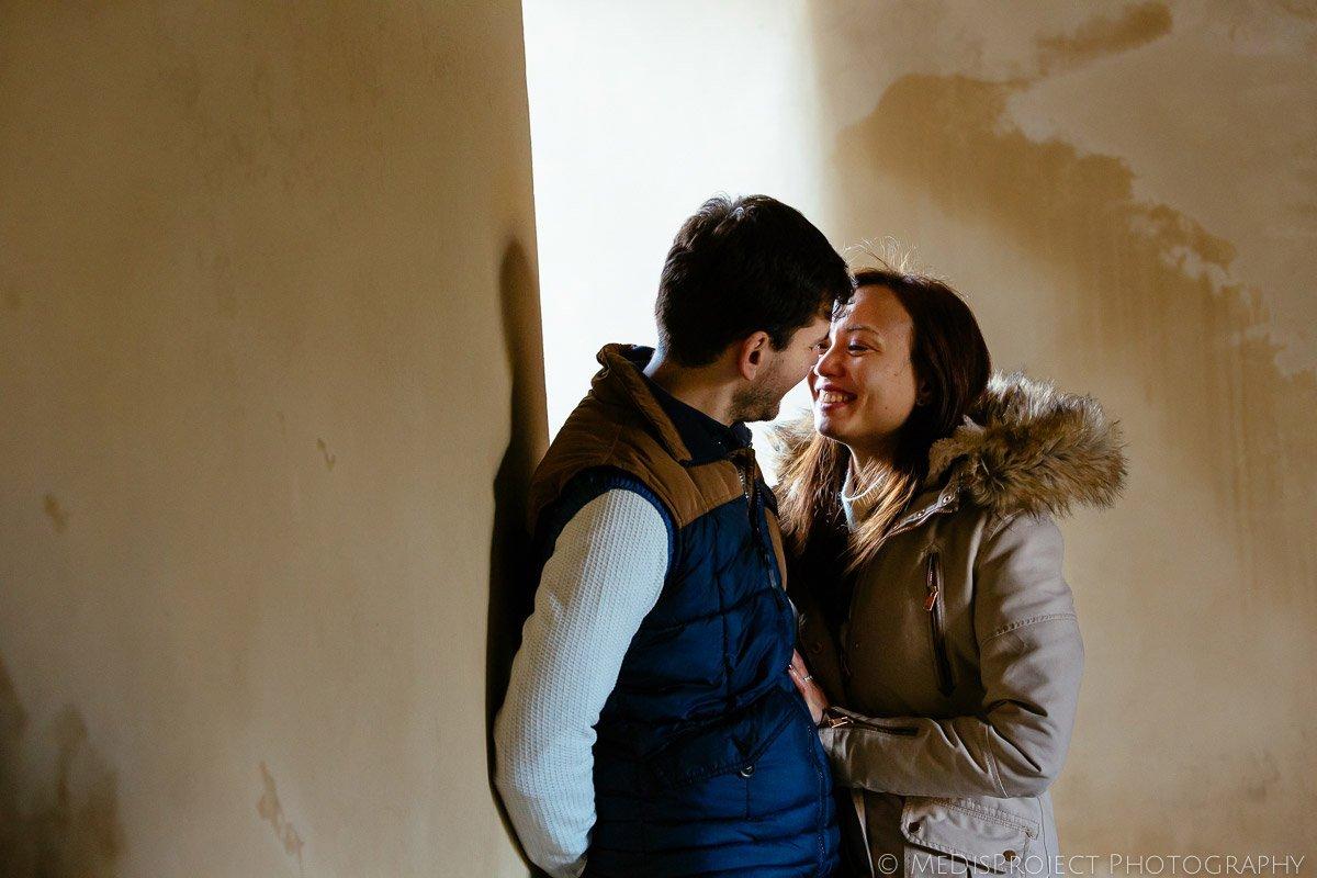 interracial couple's creative portrait