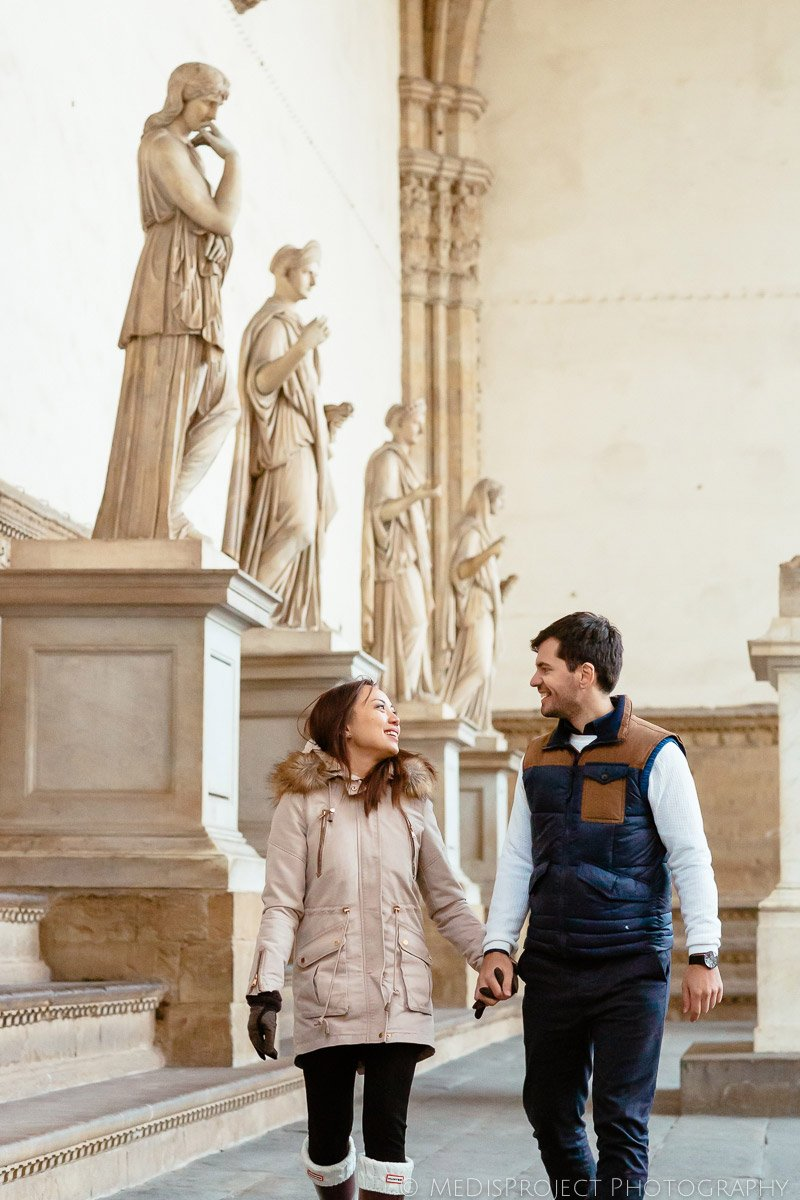 couple enjoying the art and culture of Florence