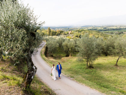Destination wedding in Italy | Cozy ceremony at Villa Petrolo