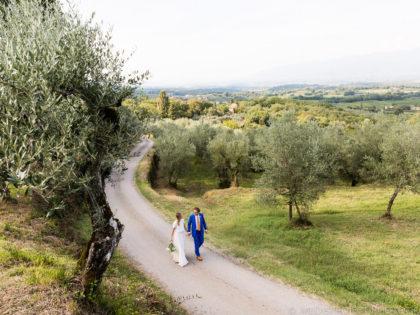 Destination wedding in Italy | Cozy ceremony at Villa Petrolo