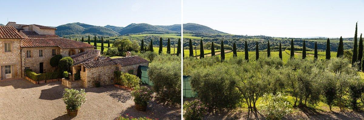 Beautiful landscape around Borgo San Felice