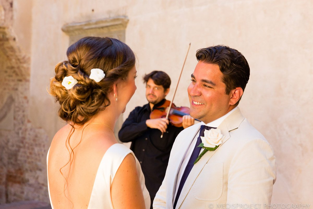 Groom in tears during the civil wedding ceremony