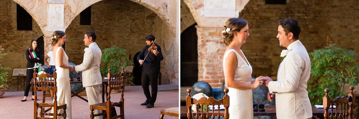 Romantic elopement in Certaldo Alto