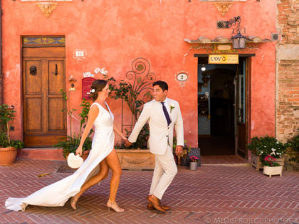 Romantic Elopement in Italy | getting married in Certaldo Alto