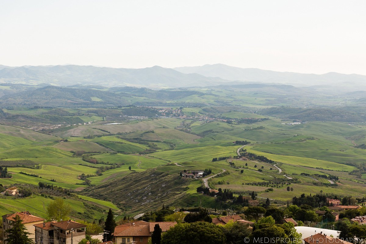 the landscape seen from Volterra