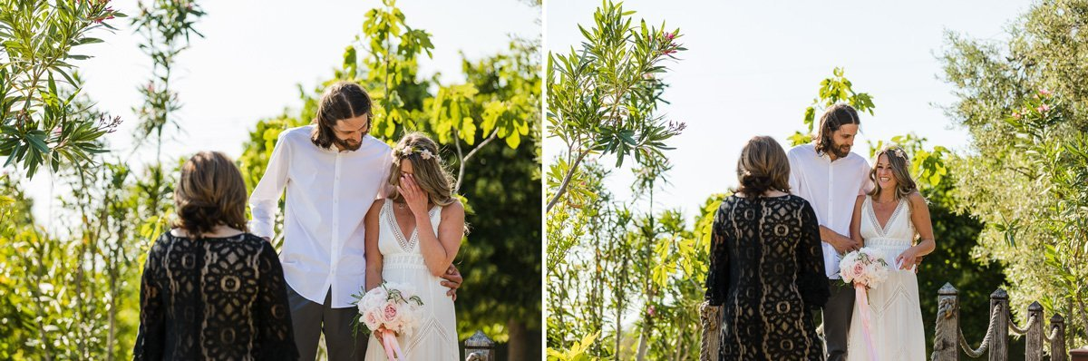 bohemian style romantic elopement in Tuscany