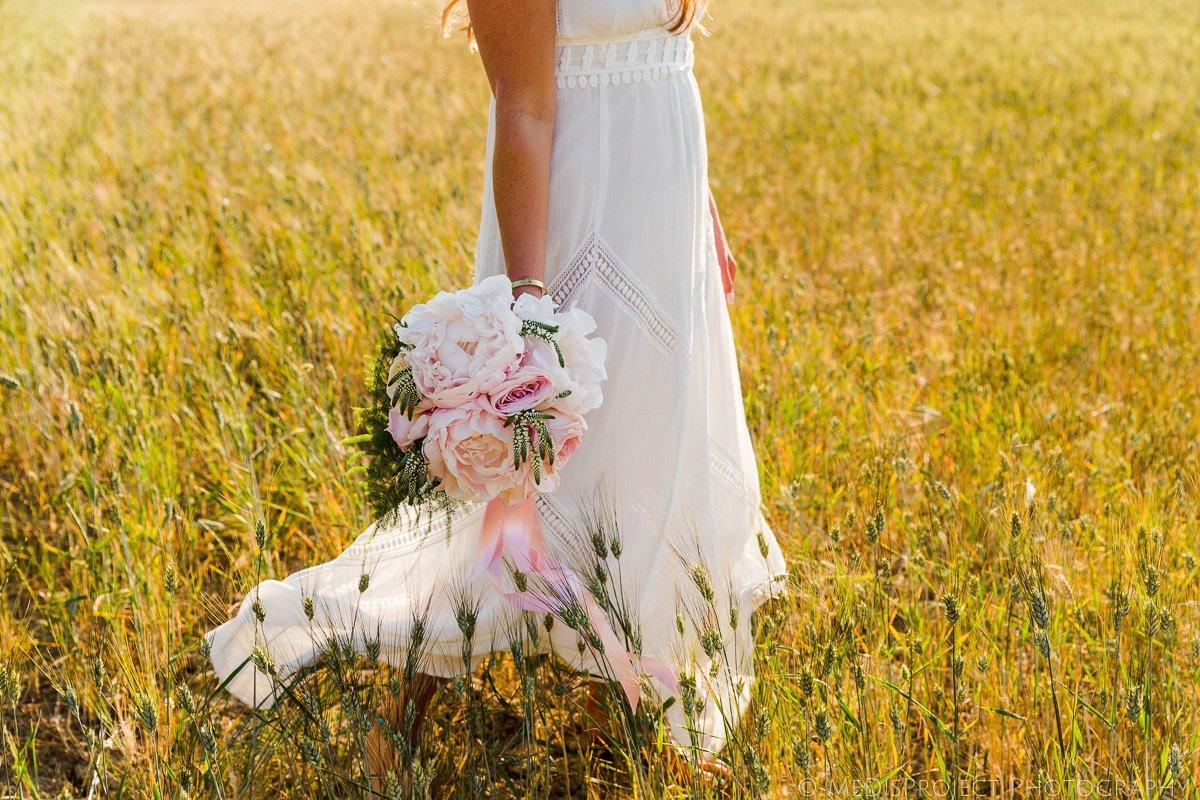 bohemian style bridal bouquet