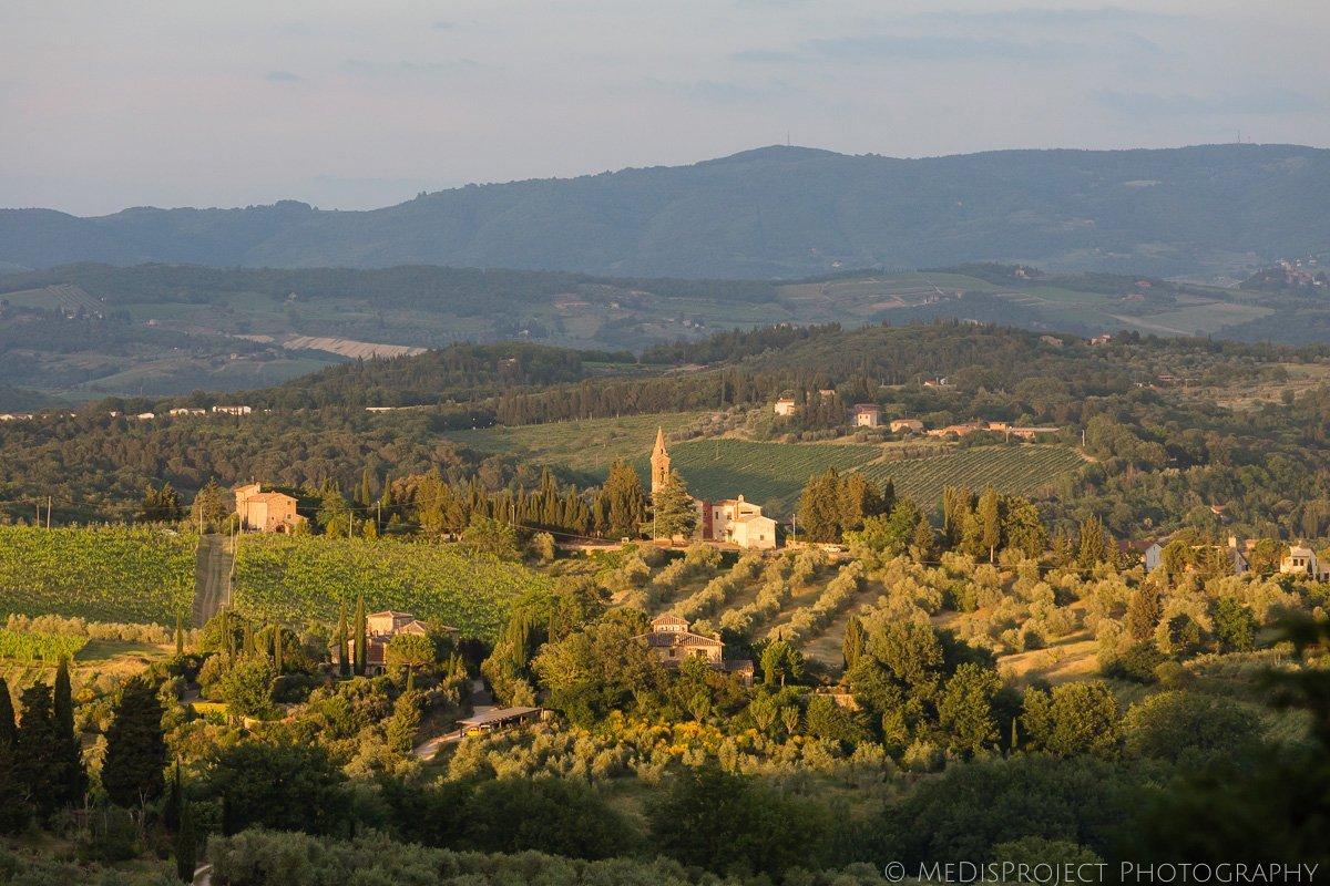 landscape viewed from Barberino Val D'Elsa
