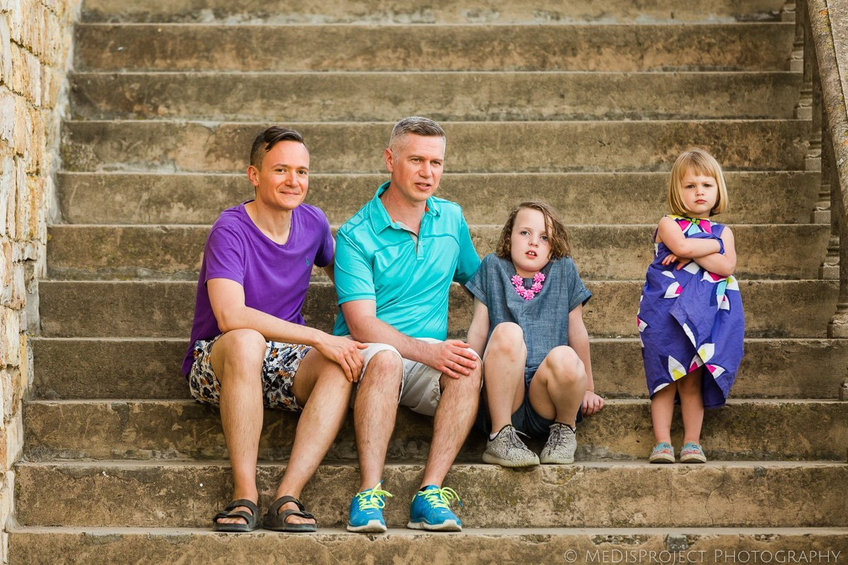 lgbt family portrait in Florence