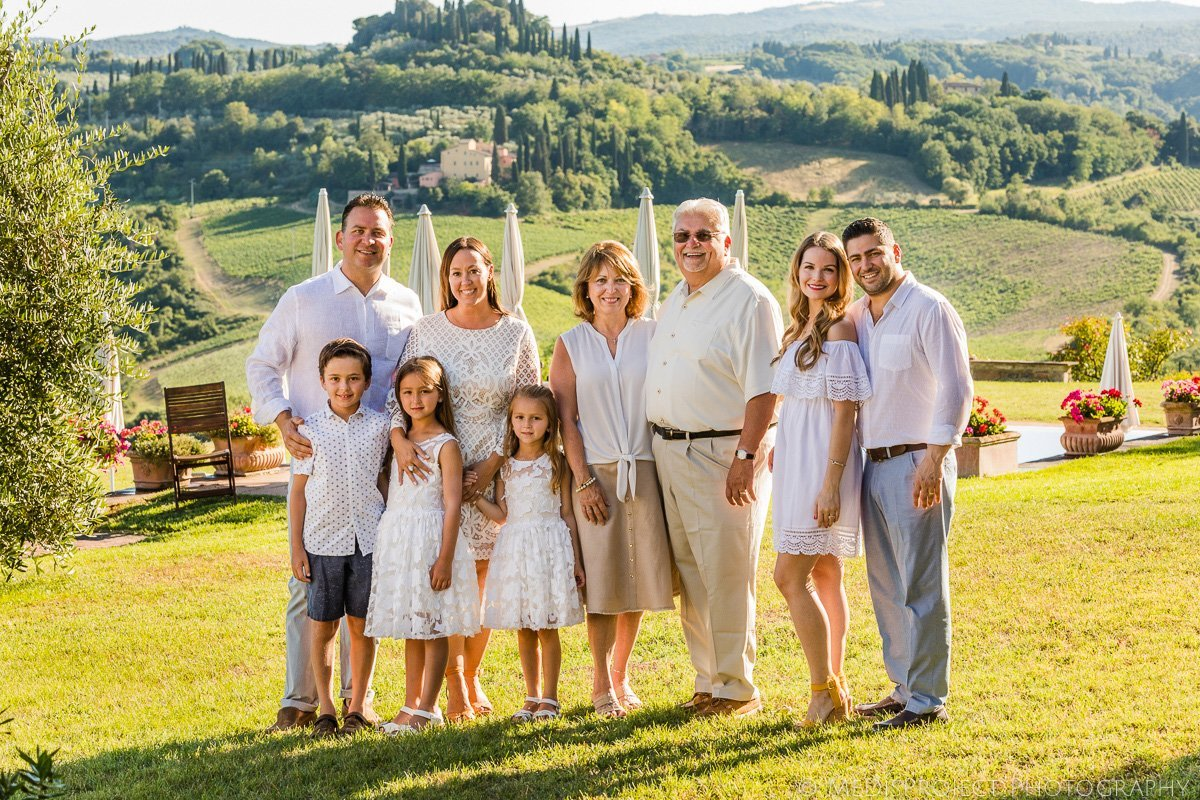 Family Reunion In Italy Holiday Photo Session In Tuscany