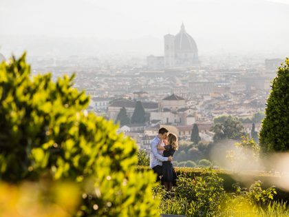 Early morning photo session | Engagement in Florence