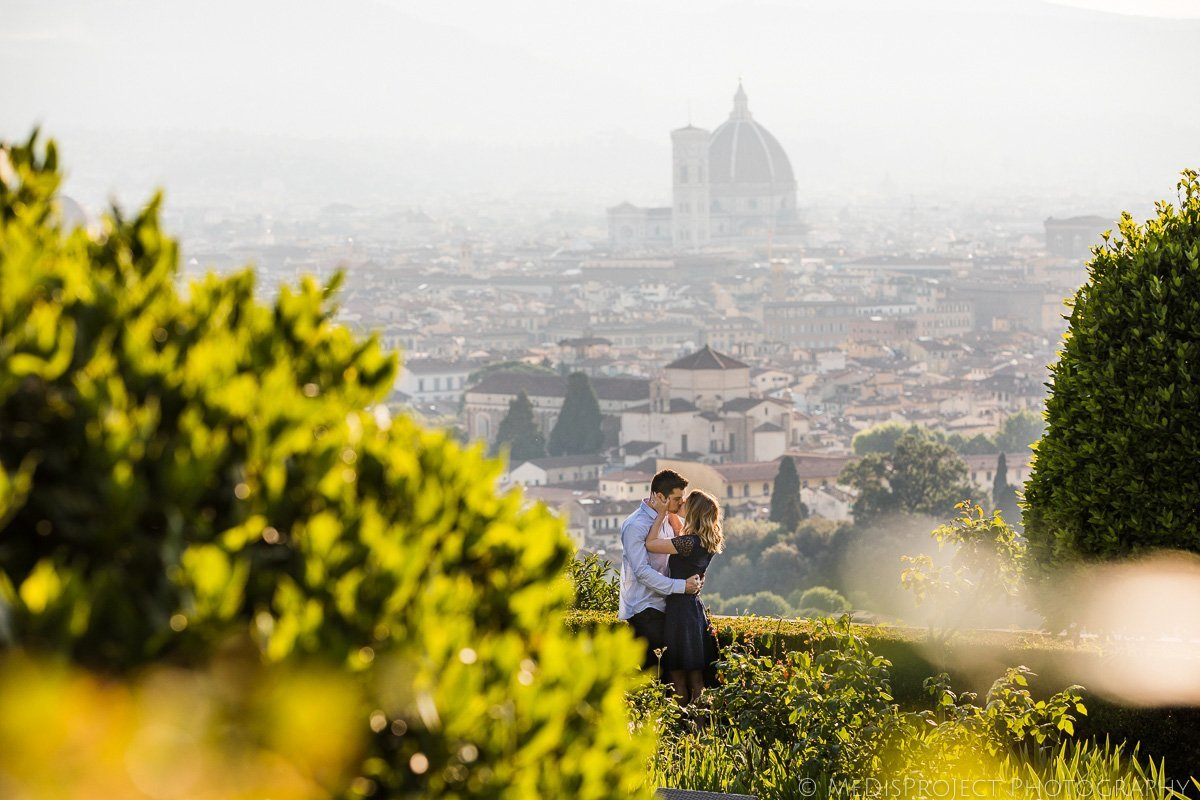 Early morning photo session at Hotel Torre di Bellosguardo in Florence