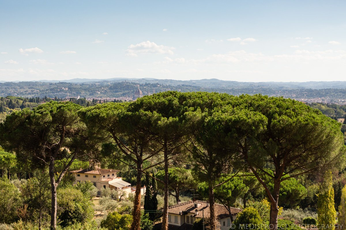 the view from Villa le Fontanelle in Florence