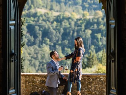 Best marriage proposal ever | Engagement photo session in Tuscany