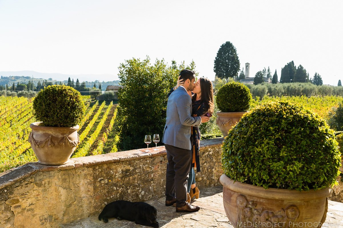 surprise wedding proposal in Tuscany