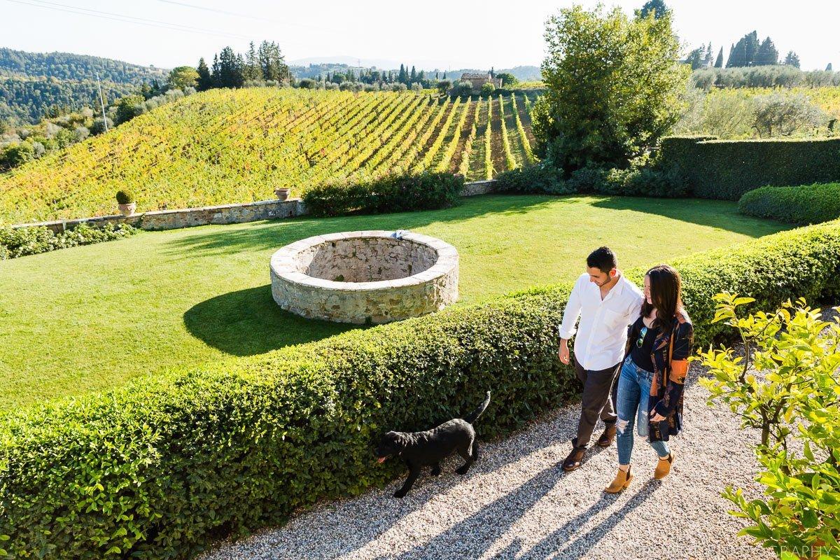 wine tasting at Castello della Paneretta in Chianti