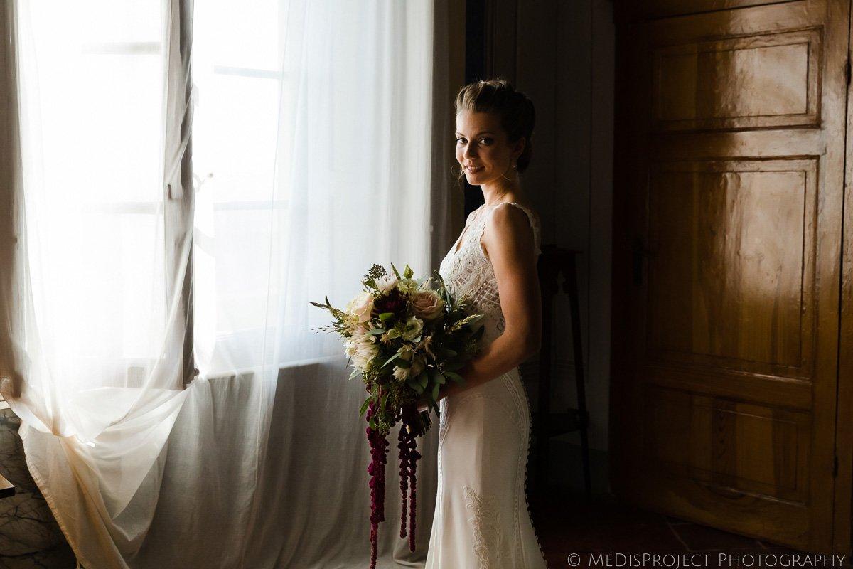 bridal portrait after preparation