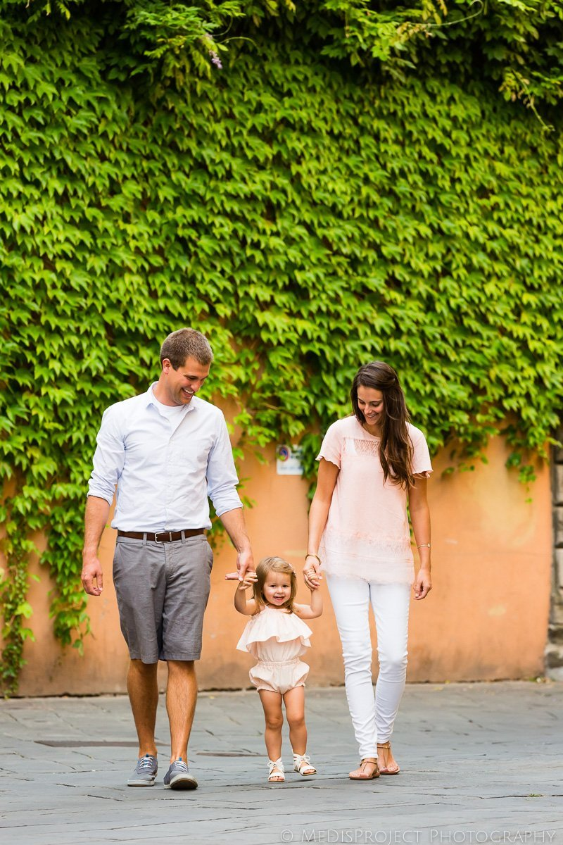 family portrait in Lucca