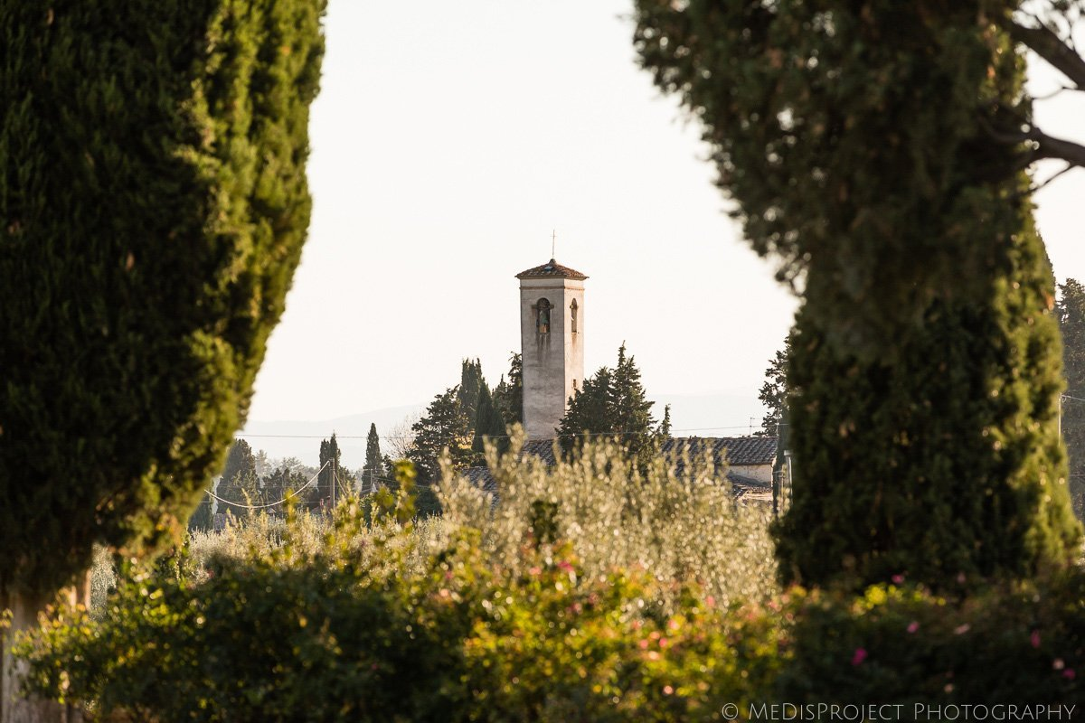 the church of Monsanto in Tuscany