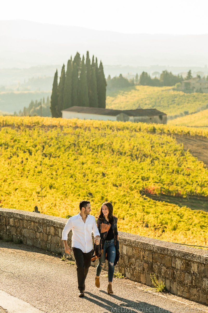 engagement photo session in Chianti