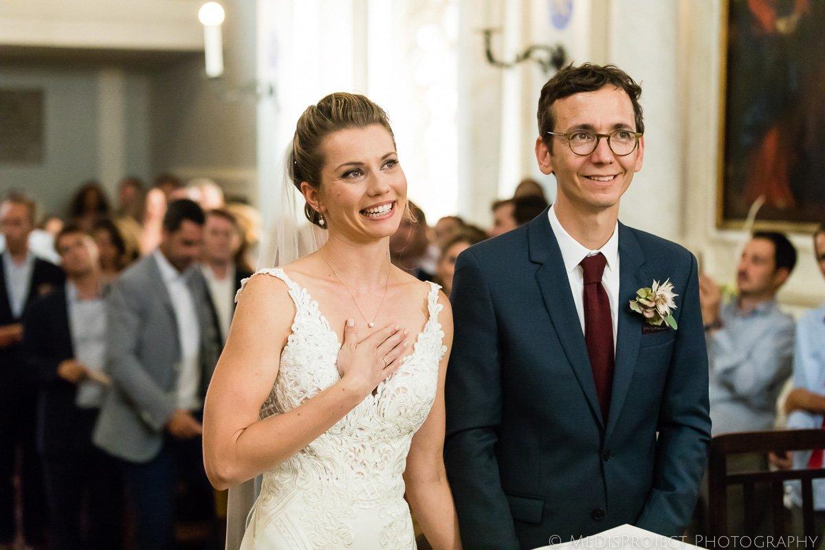 church wedding ceremony moment