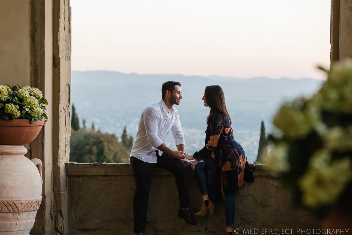 engagement photographer at Belmond Villa San Michele