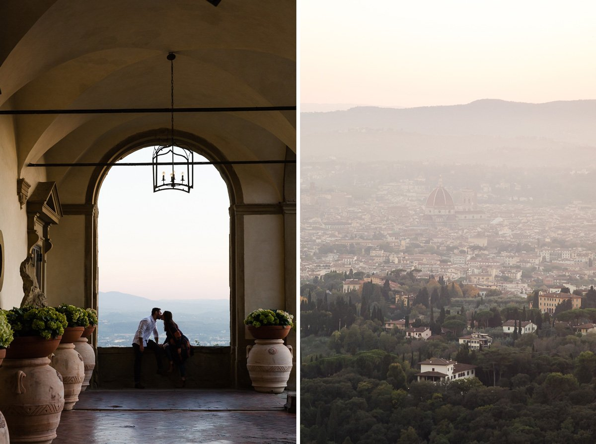 romantic photo session at Belmond Villa San Michele