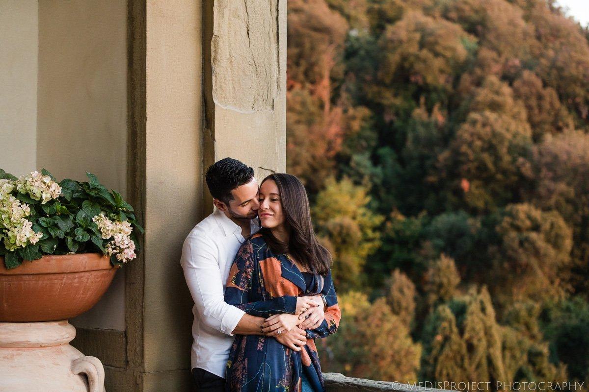 engagement photo session at Belmond Villa San Michele