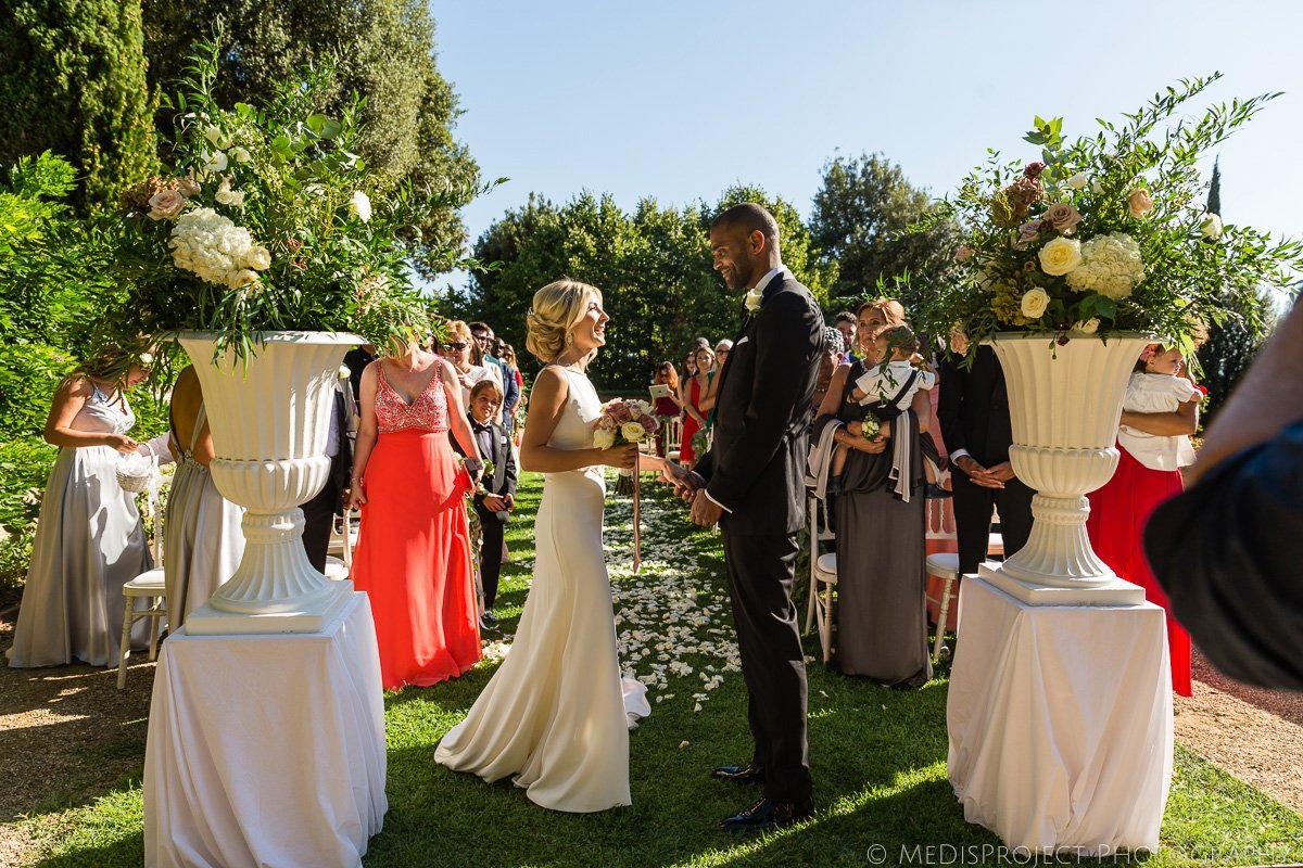 wedding symbolic ceremony at Villa le Fontanelle Florence