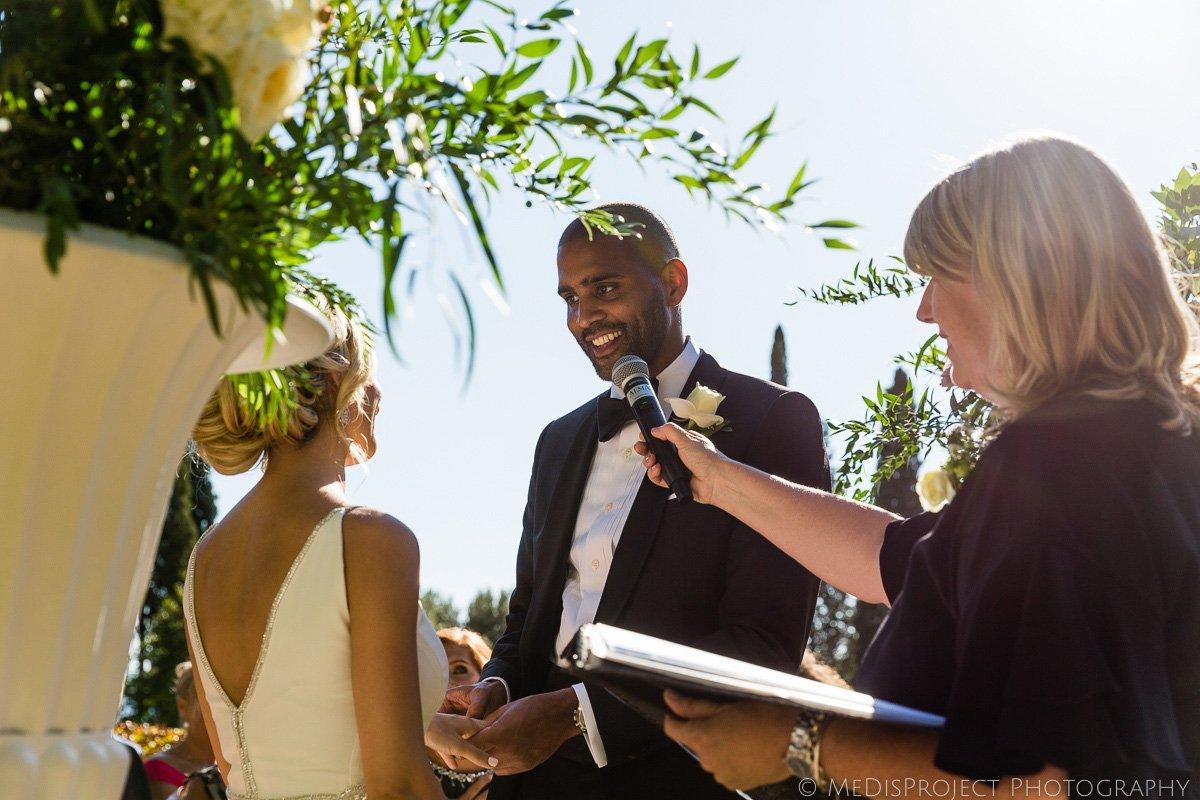 wedding symbolic ceremony at Villa le Fontanelle Florence