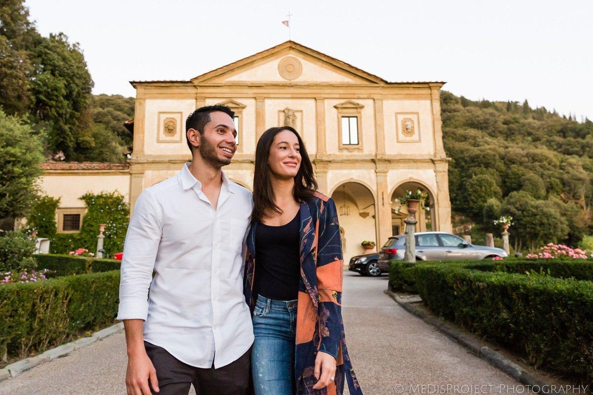 couple's photo session at Belmond Villa San Michele