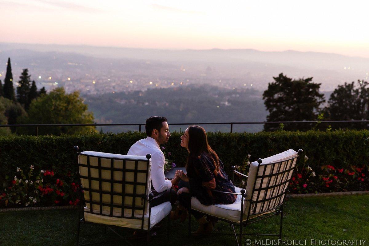 couple having a cocktail at Belmond Villa San Michele