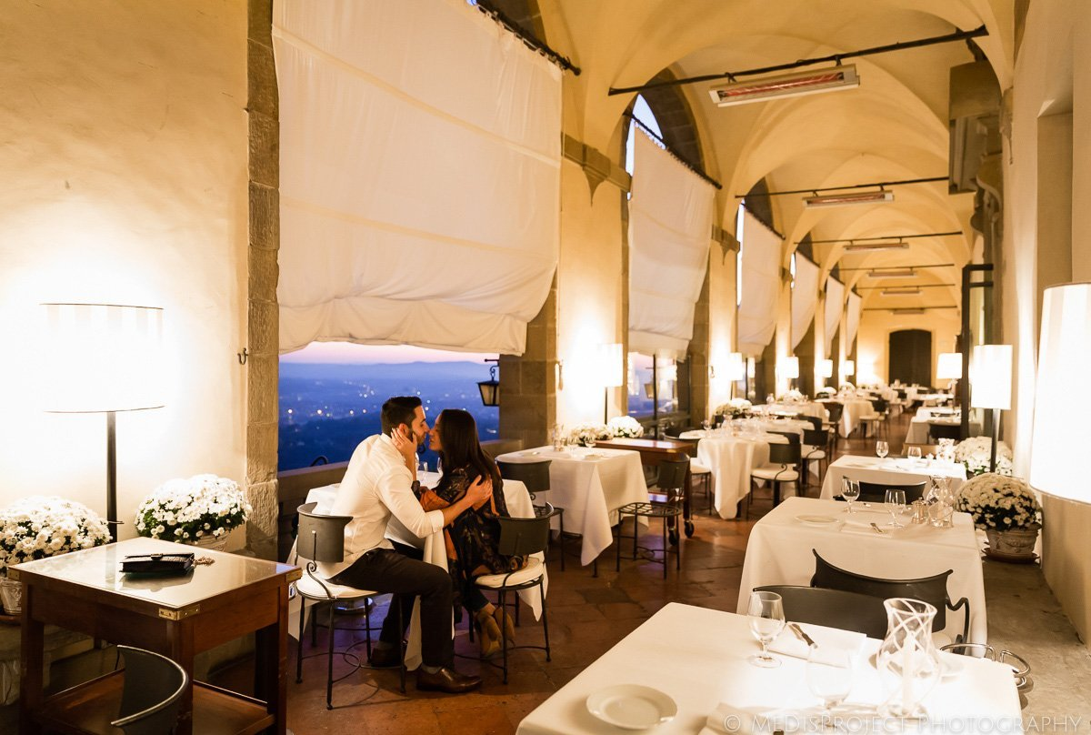 romantic dinner at Belmond Villa San Michele restaurant