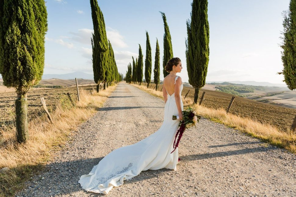 bridal portrait with Martina Liana wedding gown