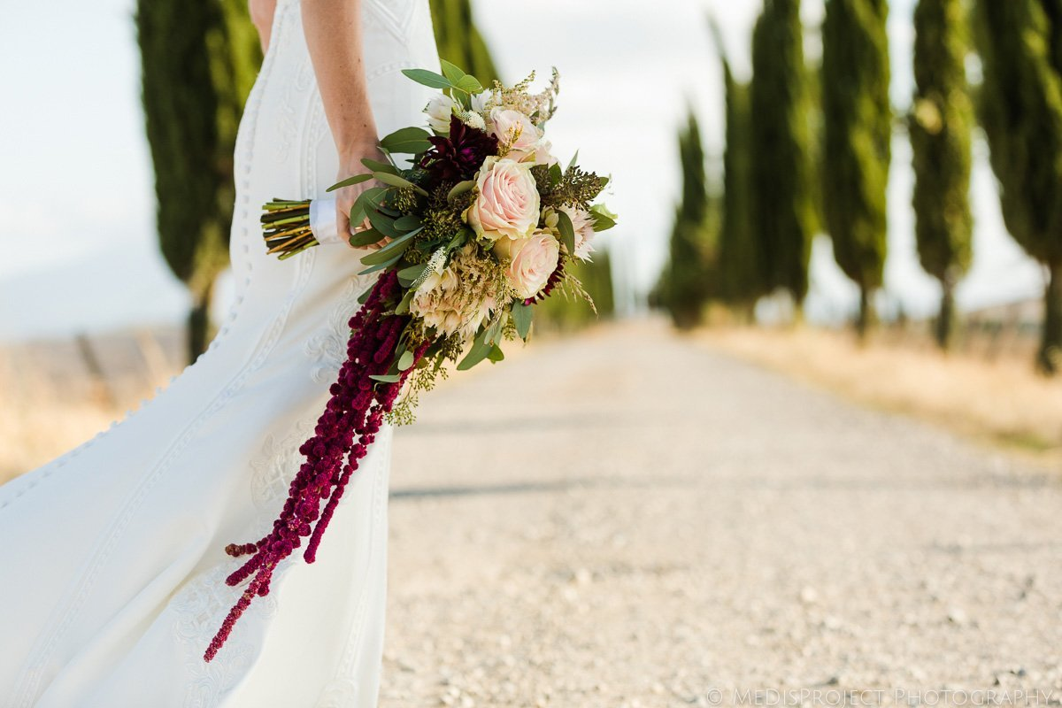 Love Lies Bleeding bridal bouquet
