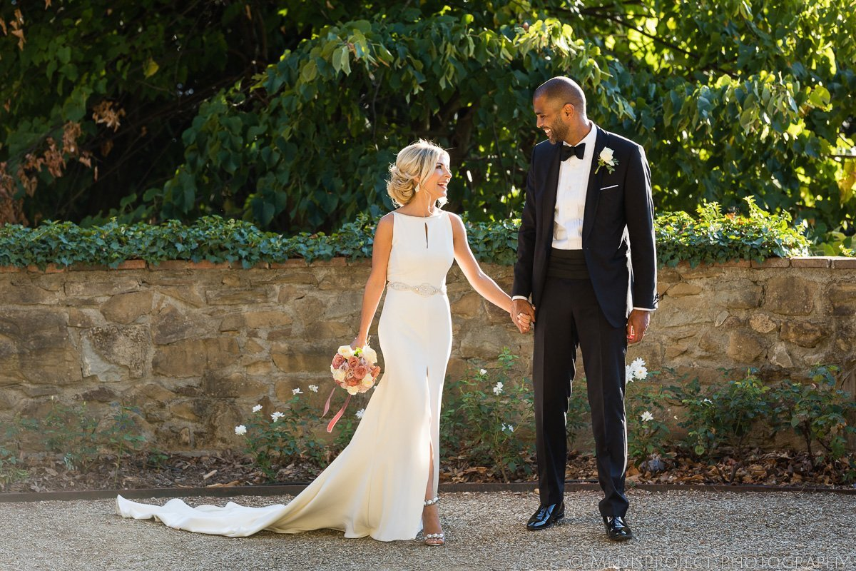 Interracial couple getting married in Florence
