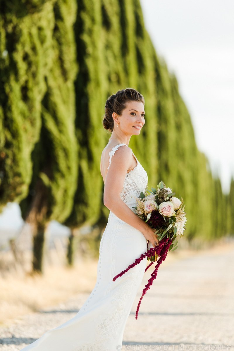 stylish bridal portrait