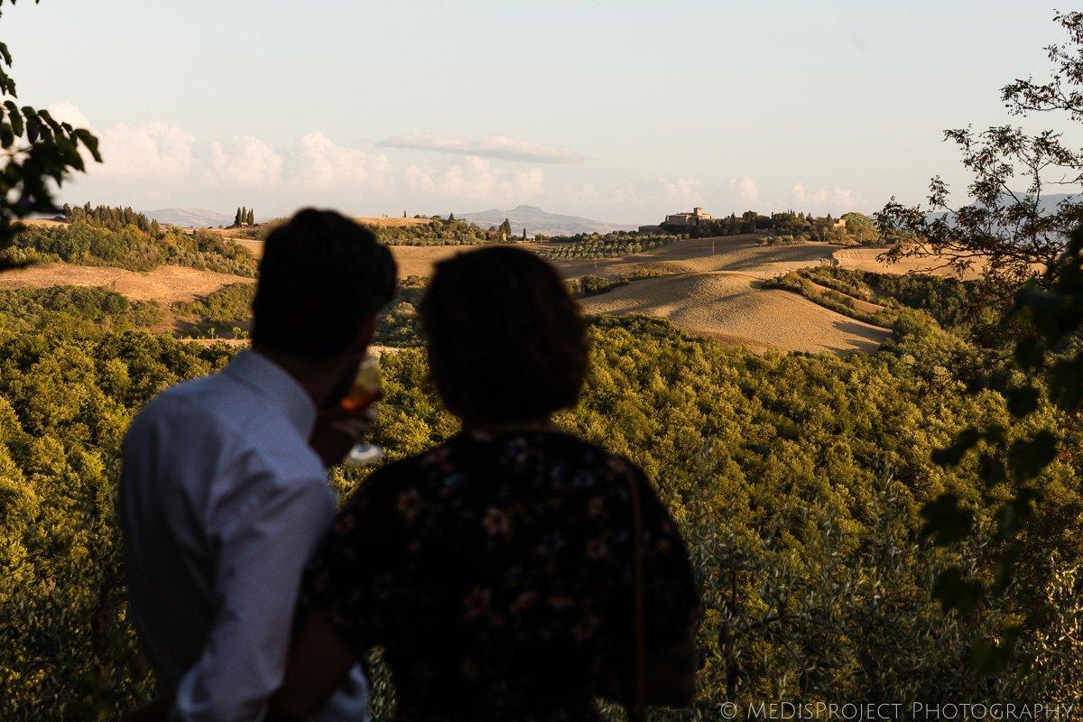 countryside panorama around Lucignanello Bandini
