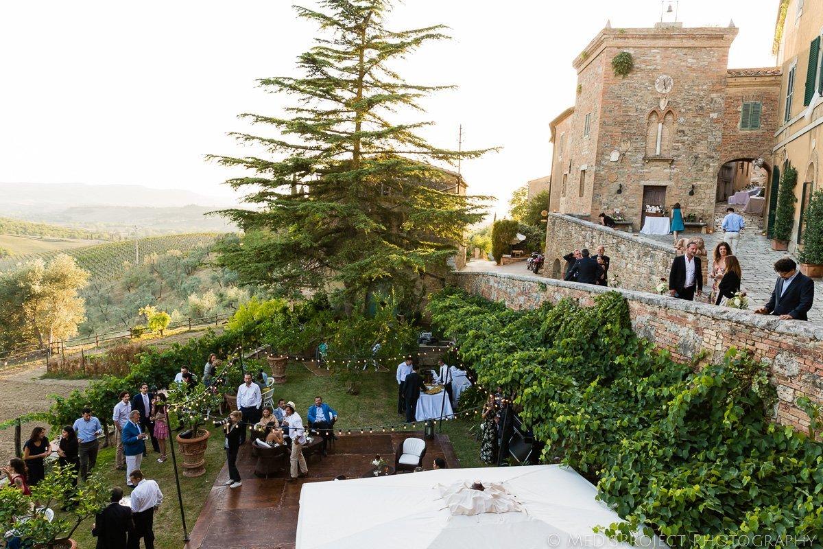 wedding reception at Borgo Lucignanello Bandini