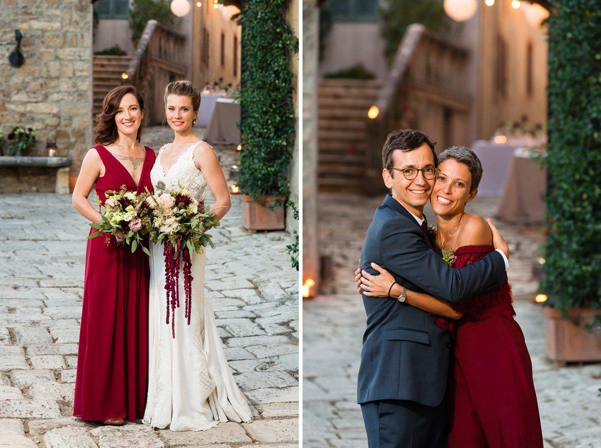 bride and bridesmaid portraits in Italy