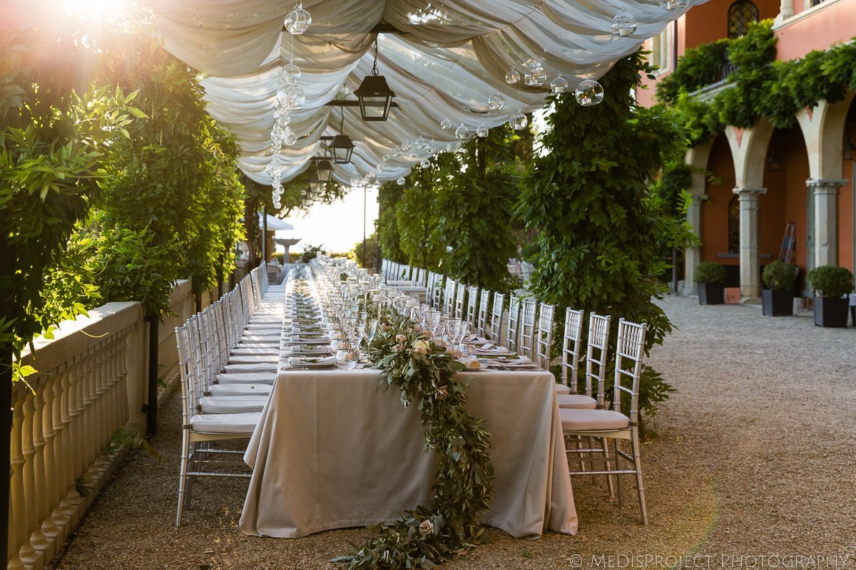 wedding dinner at villa le Fontanelle Florence