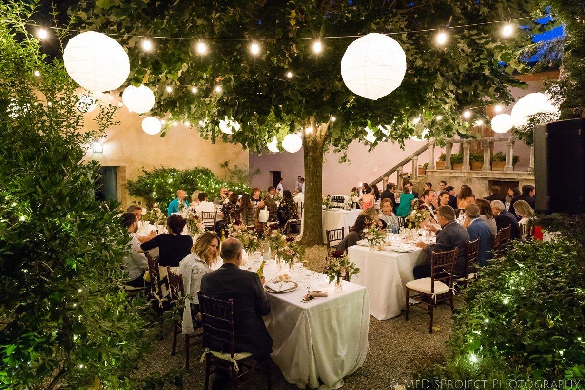 wedding dinner at borgo lucignanello bandini