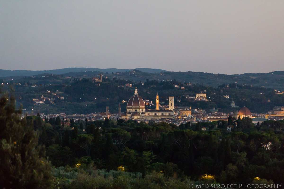 Florence dusk view from villa le Fontanelle