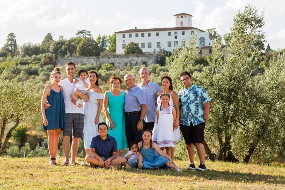 family trip photo session in Villa Corsini Florence