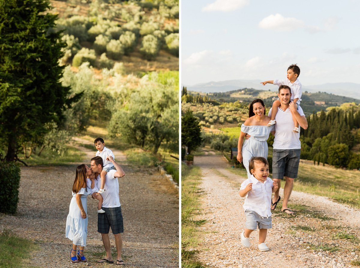family photo session in Chianti