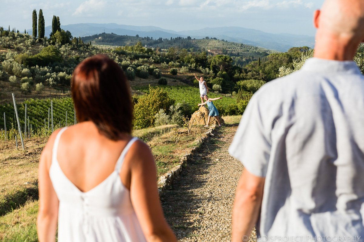 fun family photo session in Florence