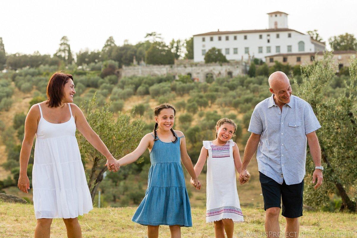 family portrait nearby villa Corsini a Mezzomonte