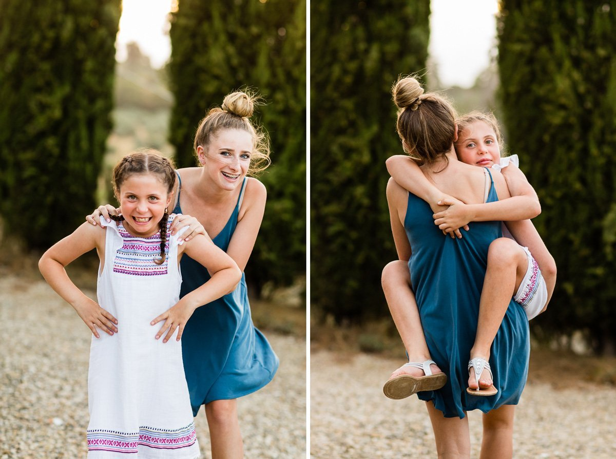 cousins portrait while on vacation in Tuscany