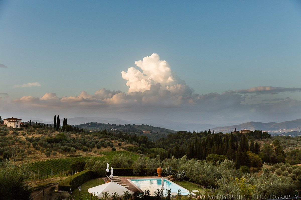the view from VRBO's Villa Murgiano in Florence